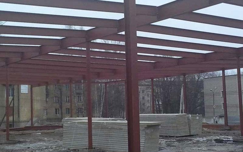 «НЗМК» Реализованные проекты - Металлоконструкции для Ярморки. г. Вязьма, Смоленская область.
